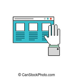 hand social media icon