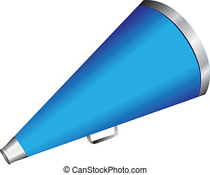 Hand megaphone to amplify voices. Vector illustration.