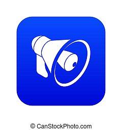 Hand speaker icon blue