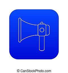 Hand speaker icon blue
