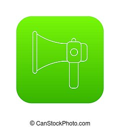 Hand speaker icon green