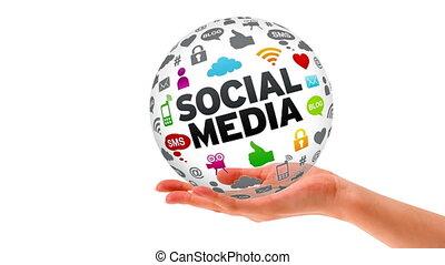 Hand Sphere social Media