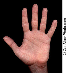 Hand - Spread hand with clipping path
