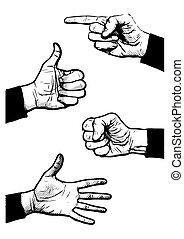 hand symbol illustrations