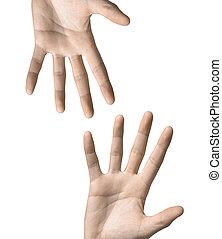 hand symbol isolated on white background