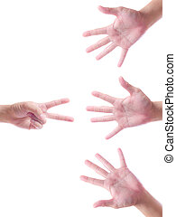 hand symbol isolated