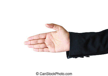 hand symbol on white background.