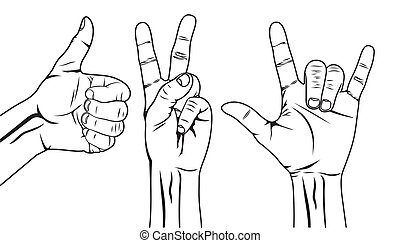 Hand symbol set