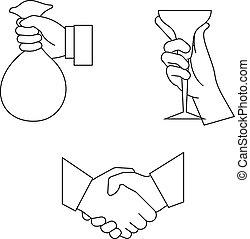 hand take vector illustration