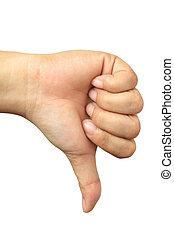 Hand Talk Series - Thumbs Down
