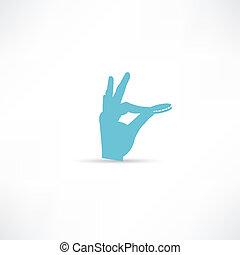 Hand throwing money icon