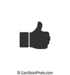Hand Thumb Up, Like icon flat