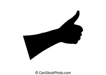 Hand - thumb up - vector illustration