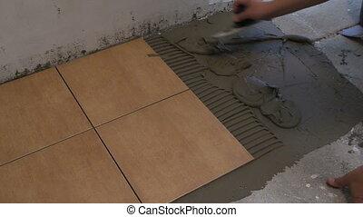 hand tile cement glue