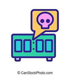hand timer icon vector outline illustration