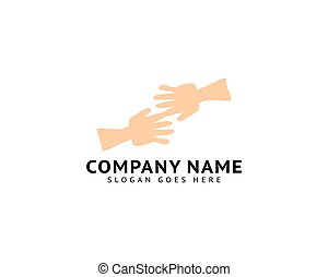 Hand to Hand Logo Template Design Vector