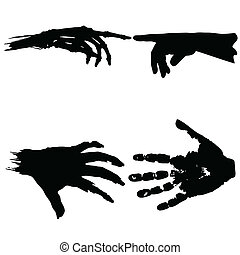hand to hand vector illustration