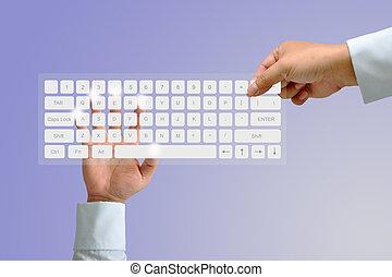 hand, toetsenbord