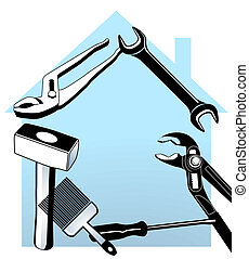 hand tool and house