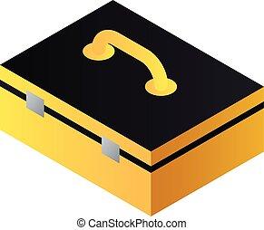 Hand tool box icon, isometric style