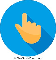 Hand Tool - Hand, tool, computer icon vector image. Can also...