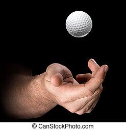 Hand Tossing Golf Ball