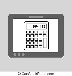 hand touch calculator financial