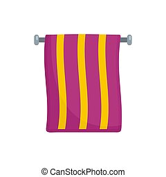 Hand towel icon, flat style