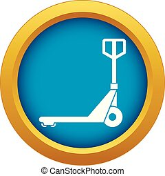 Hand truck icon blue vector isolated