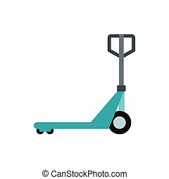 Hand truck icon, flat style
