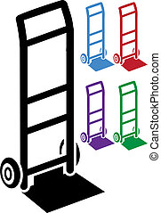 hand truck icon image isolated on a white background.