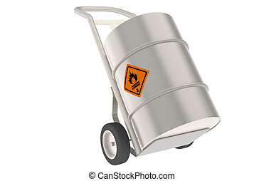 Hand Truck, with Barrel