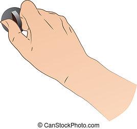 Hand Turning A Switch - hand turning a switch