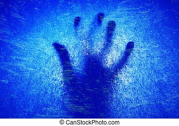 hand under ice