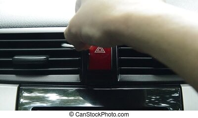 hand use cotton bud cleaning air conditioner hole in car
