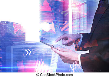 Technology and finance concept
