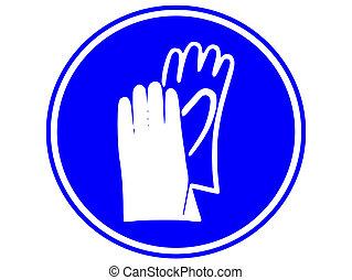 hand, vara, skydd, slitet, must