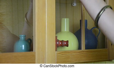 hand vase colorful