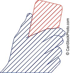 Hand Vector scribble - hand symbol for web or print users