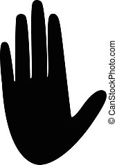 hand, vector, silhouette