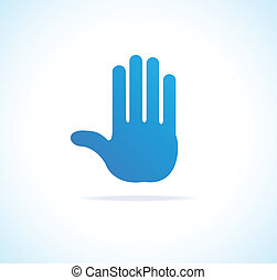 Hand vector, stop icon