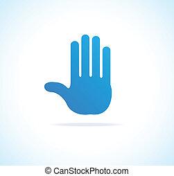 Hand vector, stop icon