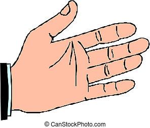 hand, vektor