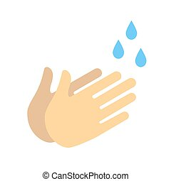 hand wash icon isolated on white background.Vector illustration.