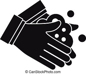 Hand washing icon. Simple illustration of hand washing vector icon for web design isolated on white background