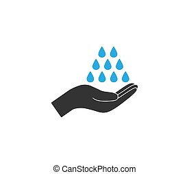 Hand washing icon. Vector illustration, flat design. - ...