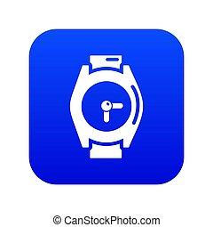 Hand watch icon blue