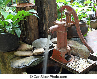 Hand water pump - retro style (old water pump)