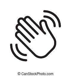 Greeting sign. Hello symbol.