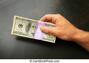hand with $2000